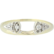 Diamond Enhancer Ring - 10k Yellow Gold Jacket Wedding Anniversary Band