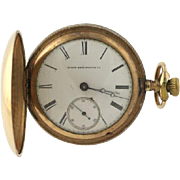 Elgin 1881 Antique Hunter Pocket Watch 15 Jewels H.H. Taylor Size 18s Running