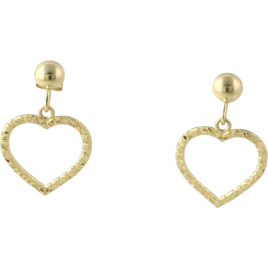 heart earrings gold - photo #49
