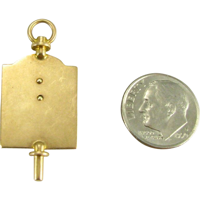 Rare Phi Delta Chi Fraternity Watch Key Fob - 14k Yellow Gold Pharmacy Vintage