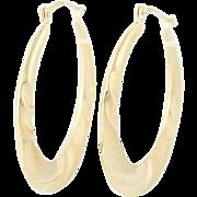 Twist Hoop Earrings - 14k Yellow Gold Pierced Snap Bar Women's 28.7mm