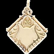 Engravable Victorian Locket - 14k Yellow Gold Women's Antique Opens