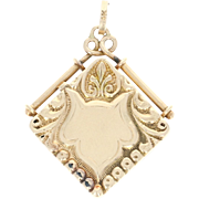 Engravable Victorian Locket - 14k Yellow Gold Women's Antique Opens