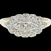 Vintage Diamond Ring - 14k Yellow Gold Size 7 1/2 Single Cut .11ctw