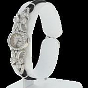Rolex Retro Diamond Ladies Watch - 18k Gold 17 Jewels Mechanical 2 Yr Wty .78ctw