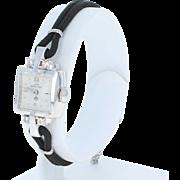 1950s Lady Hamilton Diamond Watch -14k Gold Mechanical 22 Jewels 2Yr Wrty .10ctw