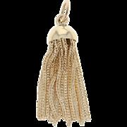 Victorian Multi-Strand Foxtail Tassel Pendant - 14k Yellow Gold Antique Fob