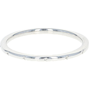 Art Deco Wedding Band - 18k White Gold Women's Vintage Ring Size 6 1/2