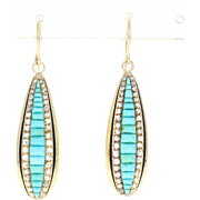 Victorian Turquoise & Diamond Earrings - 18k Gold NC Governor Bickett Estate