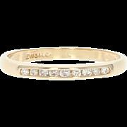 Vintage Diamond Wedding Band - 14k Gold Ring Size 4 3/4 Round Brilliant .10ctw