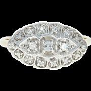 Vintage Diamond Ring - 14k Yellow Gold Size 7 1/4 Milgrain Single Cut .11ctw