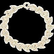 "Garland Link Bracelet 6 1/2"" - 14k Yellow Gold Spring Ring Clasp"