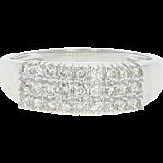 Diamond Ring - 14k White Gold Size 7 3/4 Round Cut .40ctw