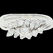 Diamond Engagement Ring & Wedding Band - 14k White Gold Round Brilliant .77ctw