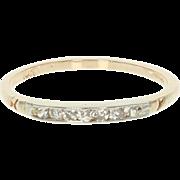 Vintage Diamond Wedding Band - 10k Yellow Gold Single Cut .19ctw