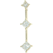 Diamond Journey Pendant - 10k Yellow Gold Princess Brilliant .30ctw