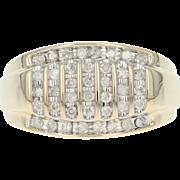 Men's Diamond Ring - 10k Yellow Gold Size 11 Round Brilliant .50ctw