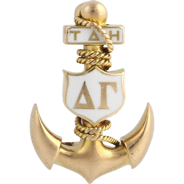 Vintage Rare Delta Gamma Badge Pin