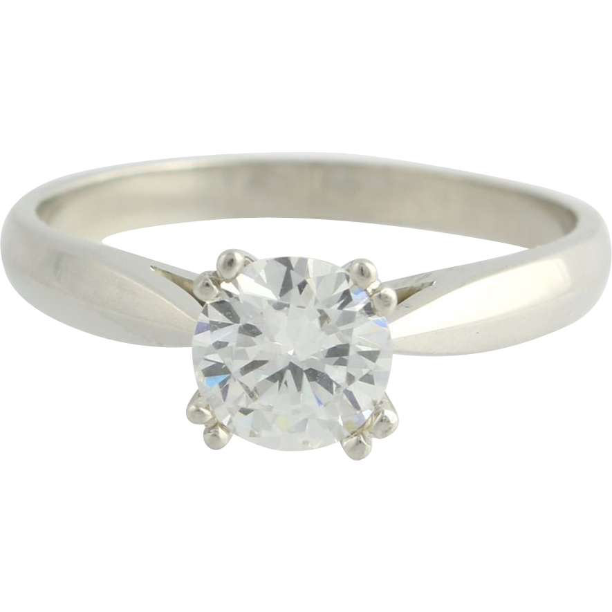 Semi Mount Engagement Ring Setting - Platinum Designer Diamond Accents