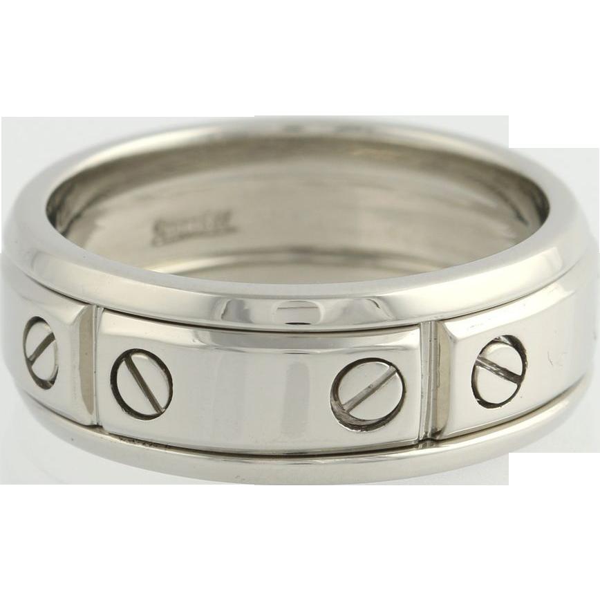 Scott Kay Javlin Wedding Band 8.5mm Screw Step Ring - Palladium 950 Size 10.75