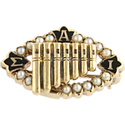 Sigma Alpha Iota Pearl Badge - 14k Yellow Gold Genuine Estate Vintage Music 1935