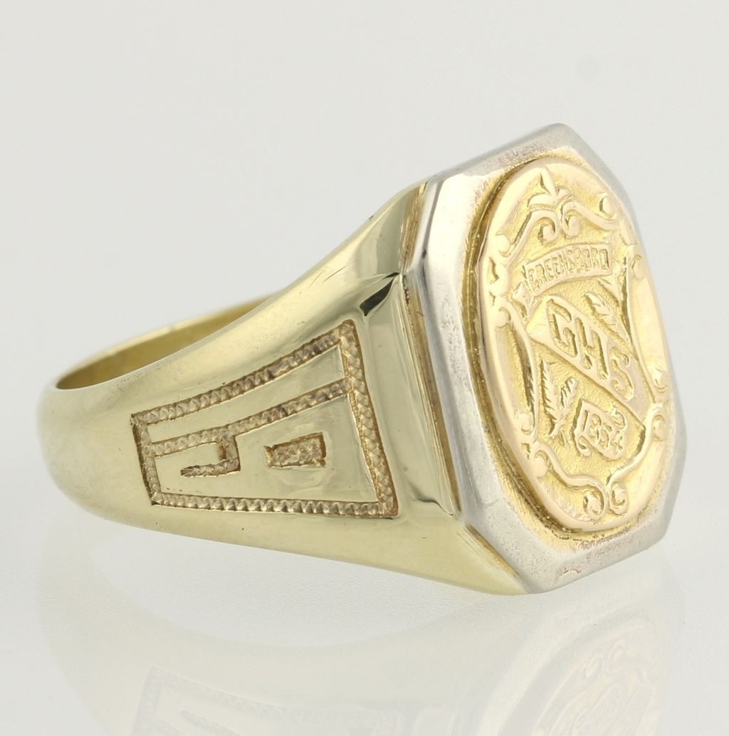 Vintage Grimsley High School Class Ring 1931 10k Yellow Gold from wilsonbro