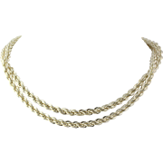 "Rope Chain Necklace 30"" - Sterling Silver Women's Fine Estate Lobster Claw Clasp"