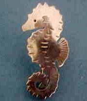 Stavre Gregor Panis Sterling Seahorse Arts & Crafts Pin Brooch