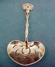 Tiffany Sterling Silver Pierced Floral  Bonbon Spoon