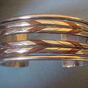 1940's William Spratling Mixed Metal Cuff Bracelet