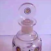 Art Deco Baccarat Enamel Perfume Bottle