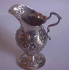 Ornate Kirk & Son Sterling Repousse Creamer
