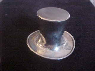 Vintage Sterling Silver Reed & Barton Top Hat Toothpick Holder