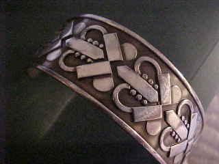 Rare Georg Jensen Sterling Denmark Cuff Bracelet