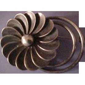 La Paglia Sterling Silver Floral Brooch Pin