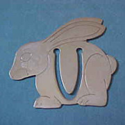 Rare Tiffany Sterling Silver Bunny Bookmark