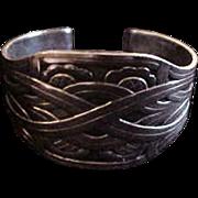 Large Georg Jensen Sterling Denmark  Cuff Bracelet No. 55
