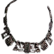 Salvador Teran Aztec Collar  Necklace for Marbel Mexico with Turquoise