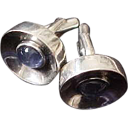 Antonio Pineda 970 Silver Cufflinks with Blue Moonstones