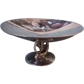Tiffany & Co. Makers Sterling Silver Tazza with Dolphin Stand