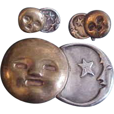Spratling Silver Sun & Moon Mixed Metal  Set, Book Piece