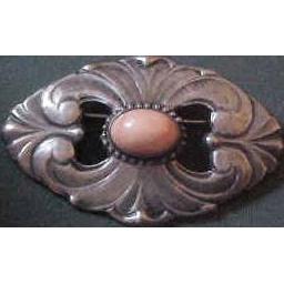 Kalo Arts & Crafts Sterling & Coral Brooch Pin