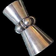 La Paglia International Sterling Silver Deco Shot Glass Jigger