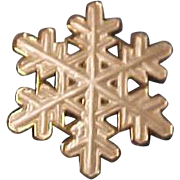 Rare Vintage  David Andersen Sterling Silver Norway Snowflake Brooch Pin