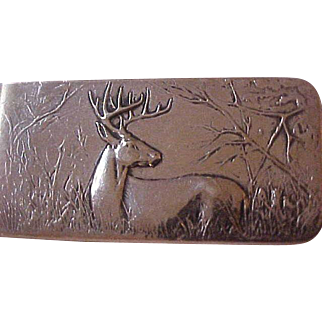 Unusual James Avery Sterling Silver Stag Money Clip