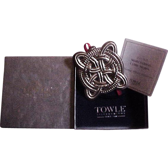 Towle Sterling Silver Celtic Knot Ornament 2005 MIB