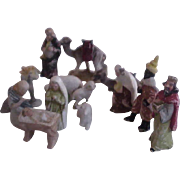 Vintage Miniature German Porcelain Nativity Set--15 pieces