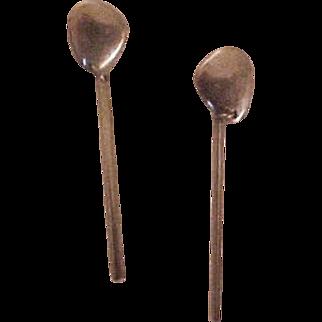 GEORG JENSEN Sterling Silver Pebbles Drop Earrings # 445 Line Falkesgaard design