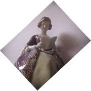 Goldscheider Vienna  by Von Polter Seated Woman Reading a Book Figurine