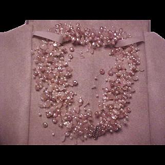Tiffany Torsade Iridesse Pink Cultured Freshwater Pearl & Quartz Necklace